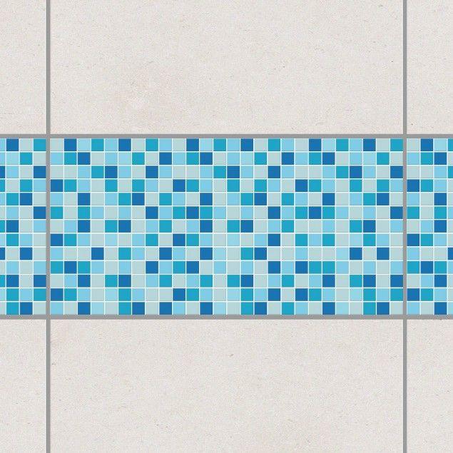 Fliesen Bordüre   Selbstklebende Mosaikfliesen Meeresrauschen Cm    Fliesenaufkleber