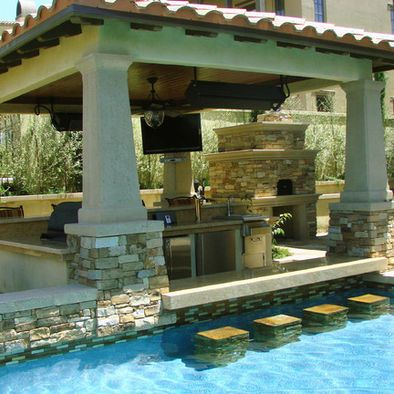 Landscape above ground pool design pictures remodel - Above ground pool bar ...