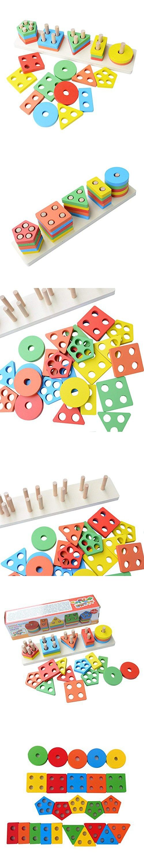 Educational Toddler Toys For 1 2 3 4 5 Year Old Boy Girls Stacking Toy Non Toxic