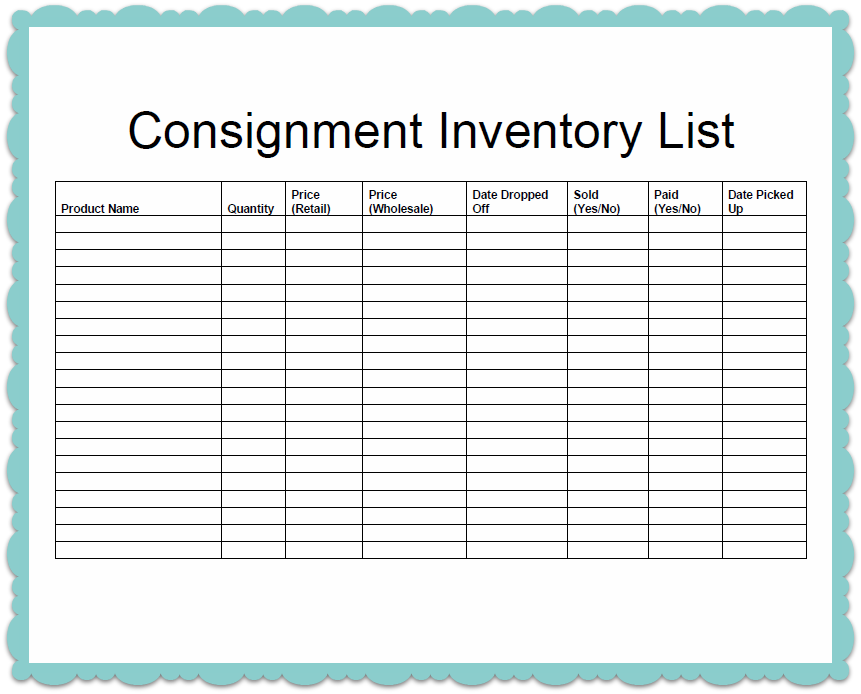 httpscribddoc136322147ConsignmentInventoryTemplate – Template for Inventory