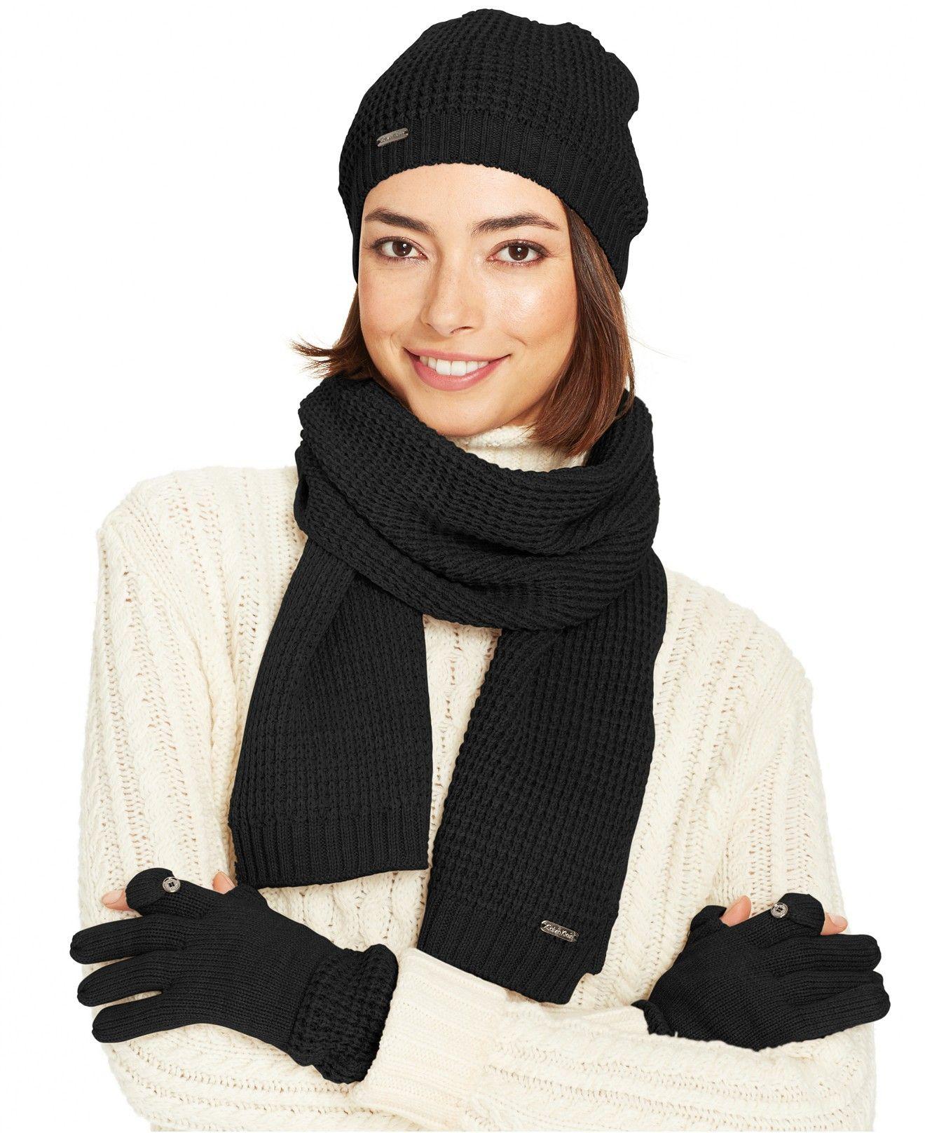 Calvin Klein Waffle Knit Hat 97f455f35ae