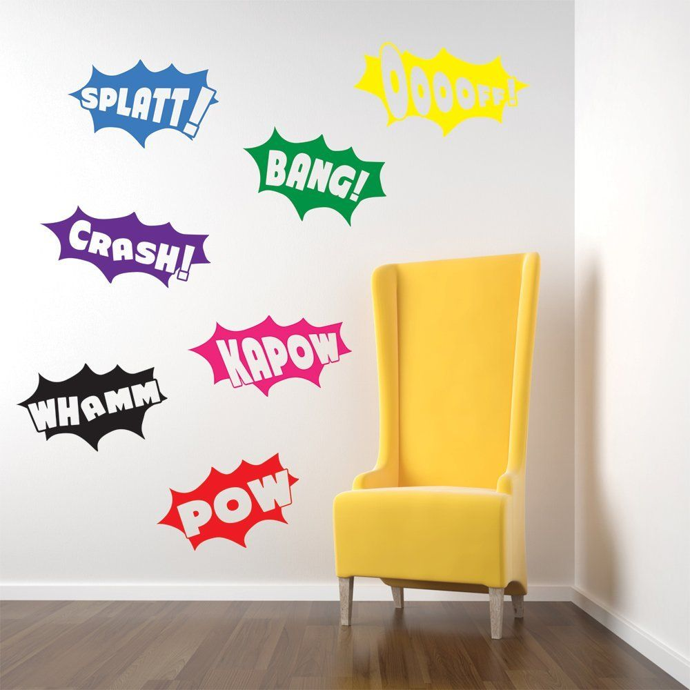 Vinyl Concept Batman Wall Stickers Decals Pow Bang Crash - Custom vinyl wall decals cheap   how to remove