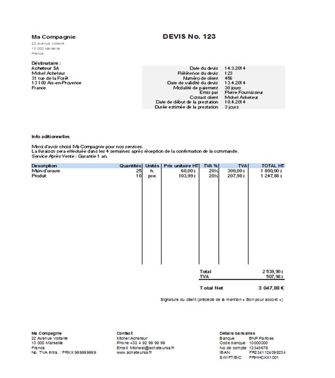 Exemple De Devis Recherche Google Layout Design Bar Chart Chart