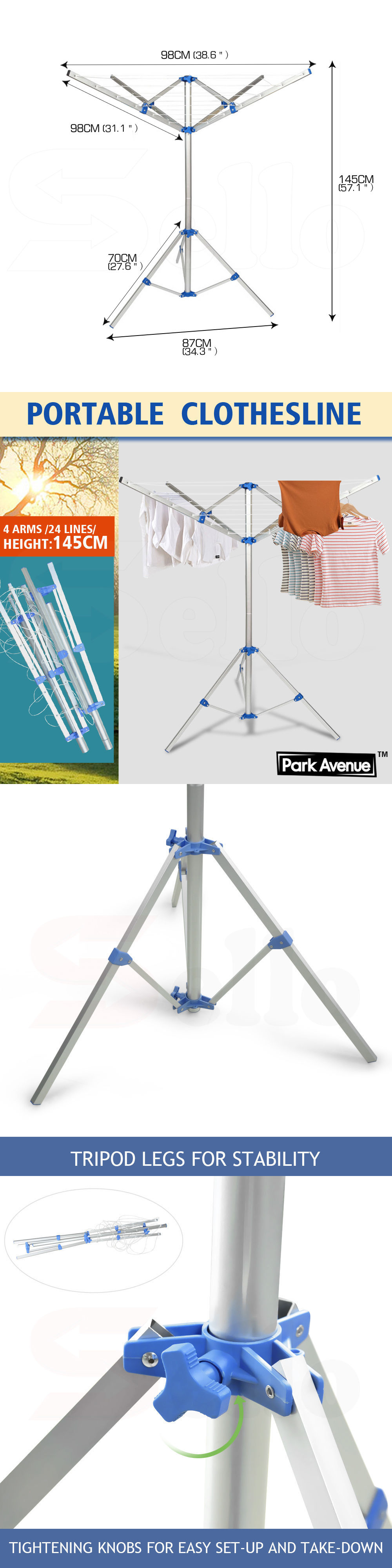 Clotheslines And Laundry Hangers 81241: Portable Umbrella Clothesline Dryer    Hang Wet Or Dry Laundry