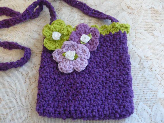 Handmade Purse Youthful Purse Crocheted Bag by LibraDesignsNYC