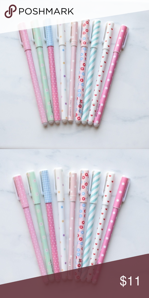 Cute pack of skinny Pens Adorable pens, I barely used them. Accessories