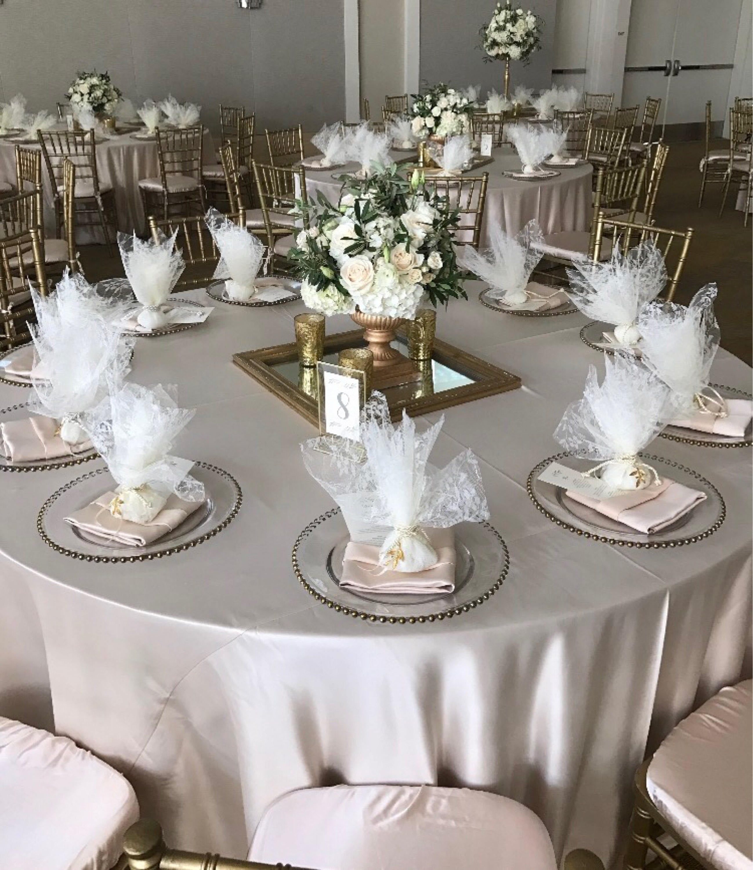 Gold Tablecloth Tablecloth Wedding Tablecloth Lamour Satin Etsy In 2020 Wedding Tablecloths Gold Tablecloth Table Overlays