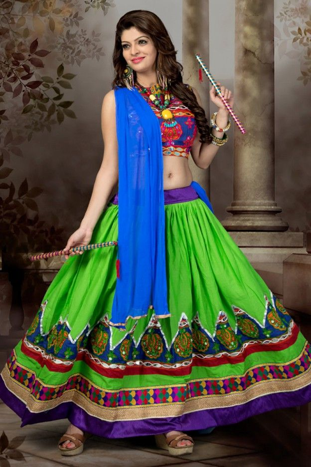 7a2f09c560 Red and Lime Color Cotton Short Skirt Chaniya Choli Garba Dress, Choli Dress,  Ghagra