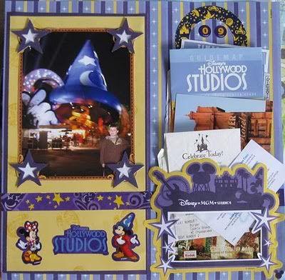 magic+kingdom+scrapbook+layouts | Disney Scrapbook Memorbilia pockets - MouseBuzz.com