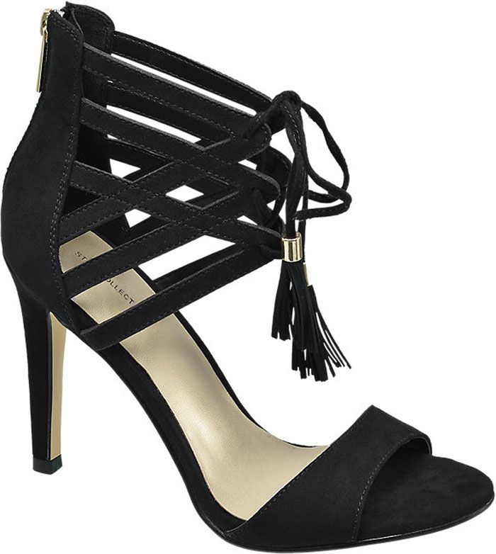 Ellie Goulding by Deichmann ankle-strap sandals Ellie Goulding, Black High  Heels, Ankle e7f3736eaa