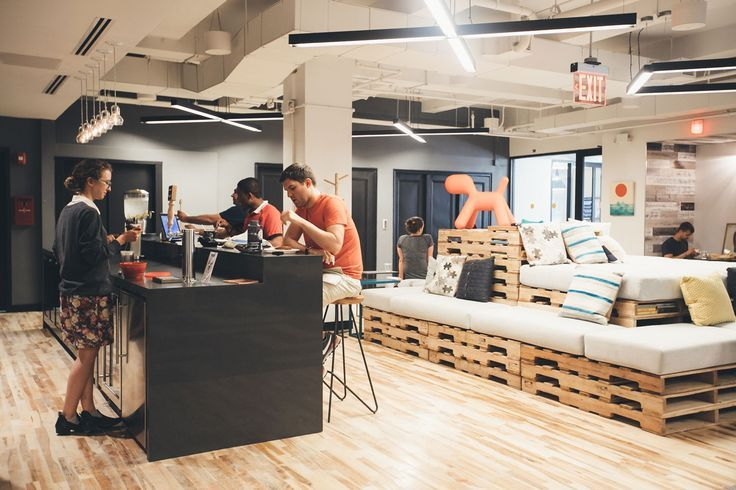 Coworking office space in brooklyn wework dumbo Coworking space design ideas