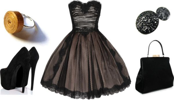 """""""Black Glamour"""" by purplesmoothiee on Polyvore"""