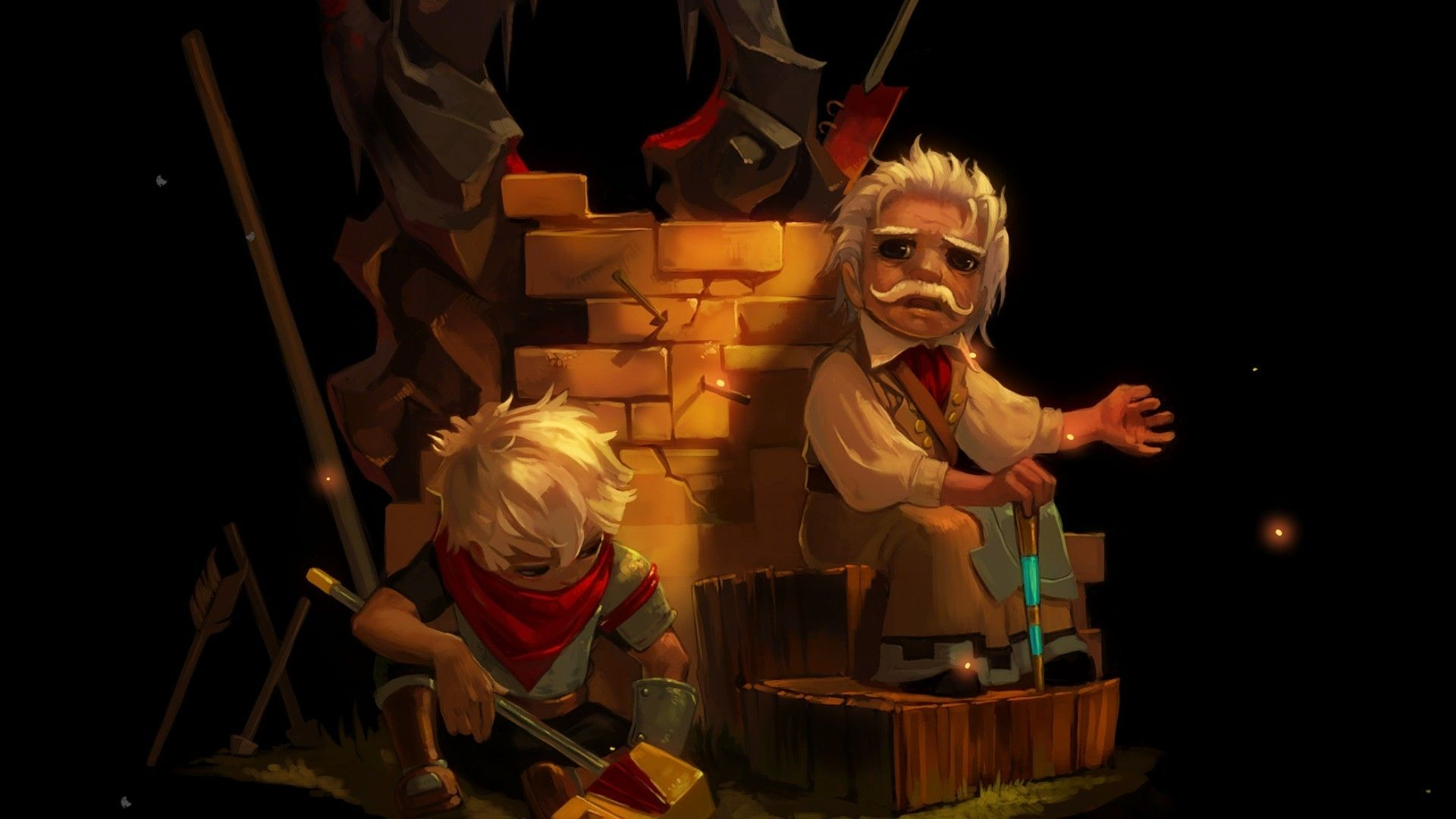 Bastion Wallpapers Bastion Game Artwork Kids Playing