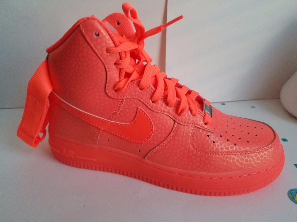best service 42c0c 84d50 NIKE AIR FORCE 1 HIGH PREMIUM HOT LAVA 654440-800 WOMENS SIZE 9  Nike   BasketballShoes