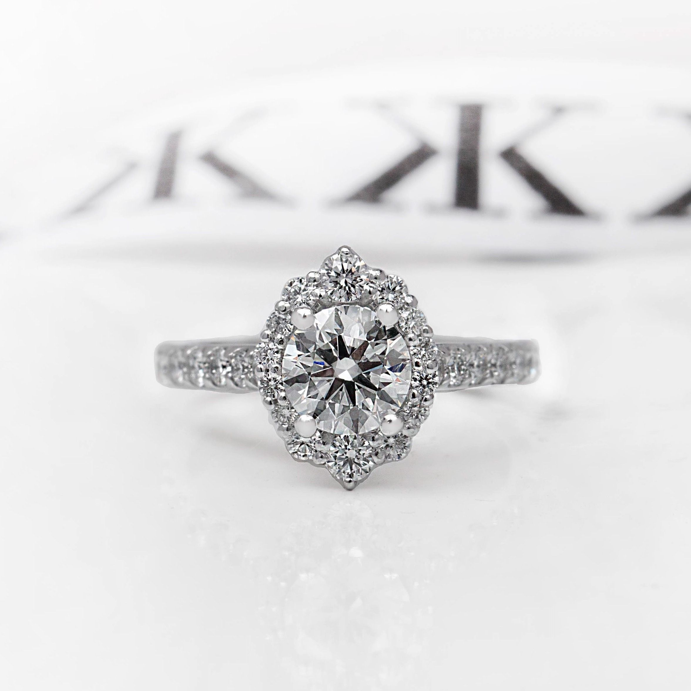 Custom made diamond engagement ring bykalfinjewellery diamondrings