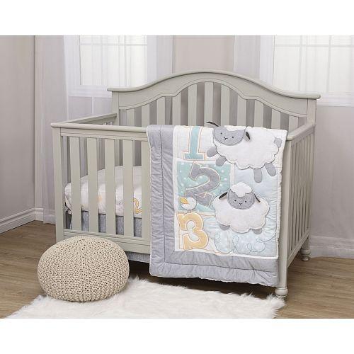 Fisher Price My Little Lamb 4 Piece Crib Bedding Set