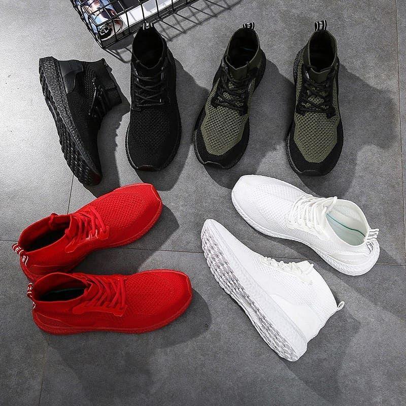 Sepatu Impor Sepatu Jalinan Sepatu Pria Mode Flat Sepatu