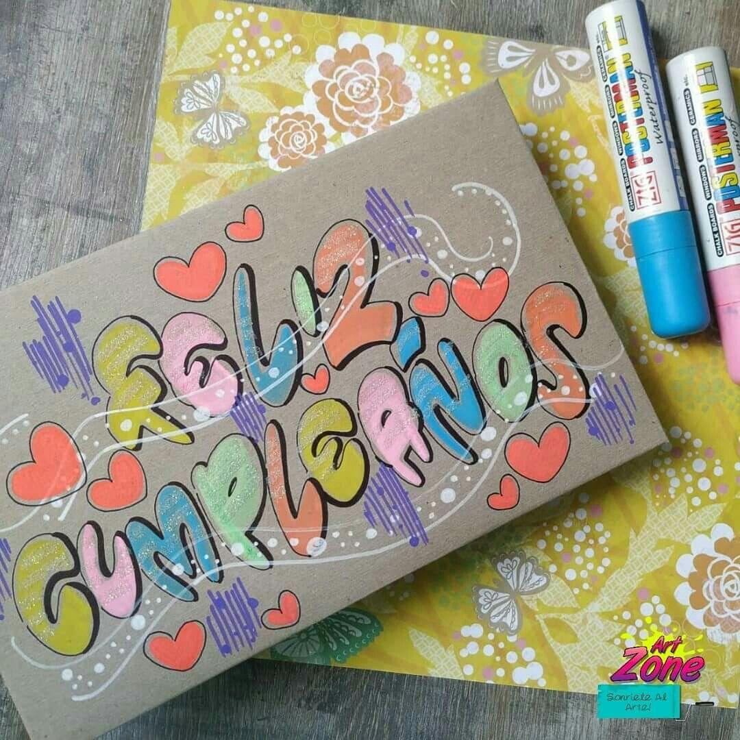 Caja decorada   Carteleras de feliz cumpleaños, Feliz cumpleaños letra,  Cumpleaños letra