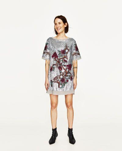 32ad0701bfeb SEQUIN MINI DRESS-Short-DRESSES-WOMAN