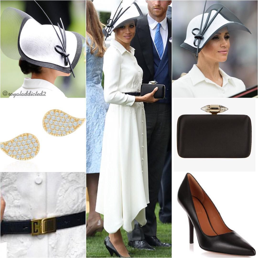 Dress  Givenchy  Shoes  Givenchy ( 650)  Belt  Givenchy  Clutch  Givenchy   Hat  Philip Treacy  Earrings  Birks ( 1 782a7ea91443