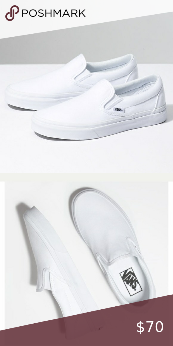 white slip on vans super cute shoes