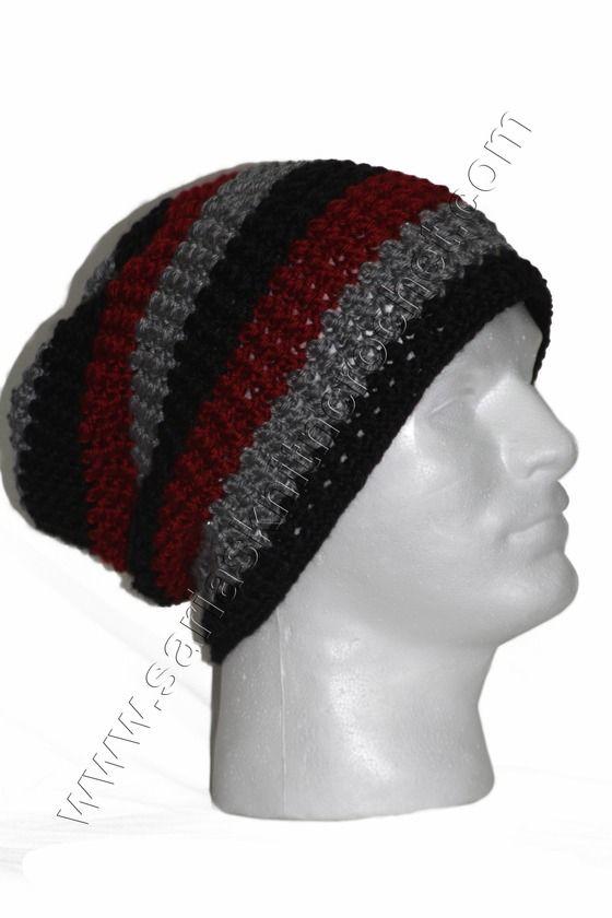 Spring Men\'s Beanie - Black Stripe Beanie for Men $19.00   Knitting ...