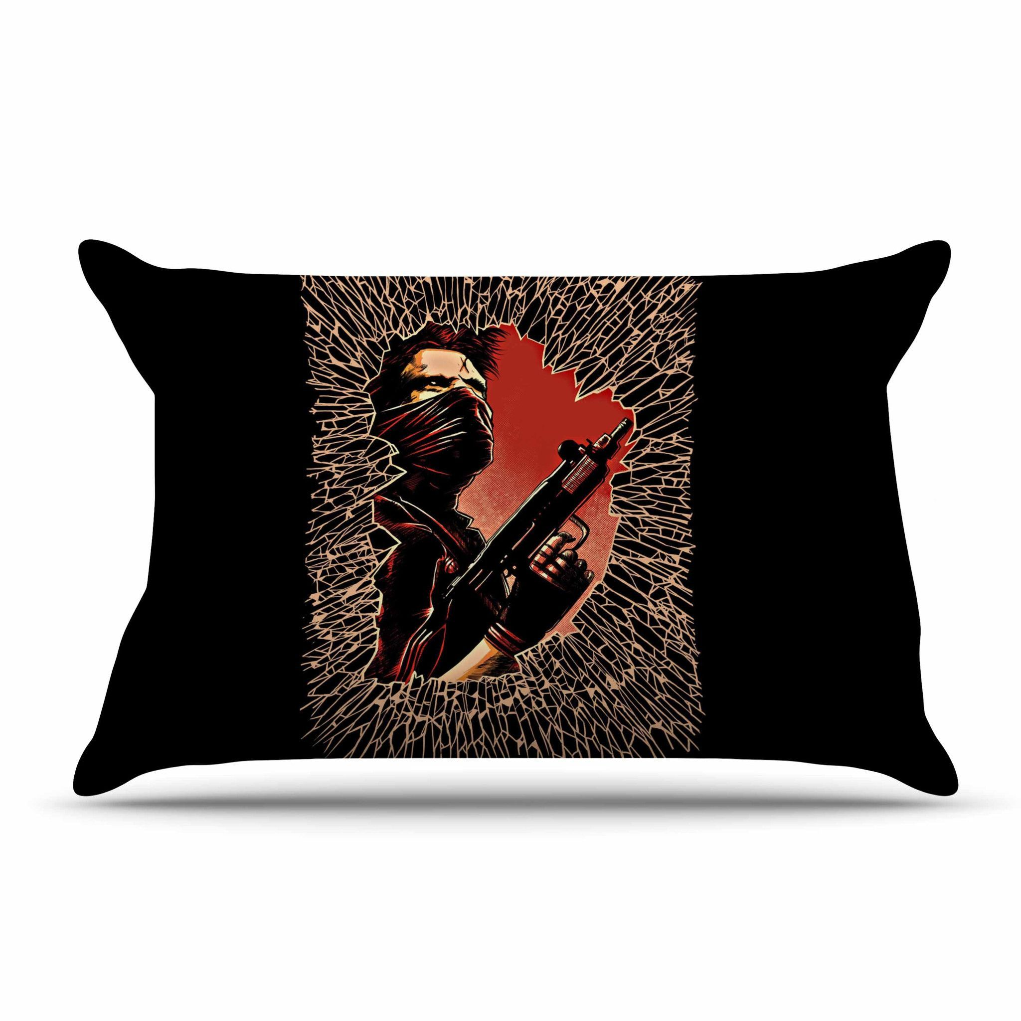 "Barmalisirtb ""War Is Over"" Black Red Pillow Sham"