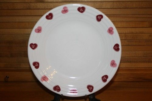 $16 Fiestaware Valentine Luncheon Plate With Candy Heart