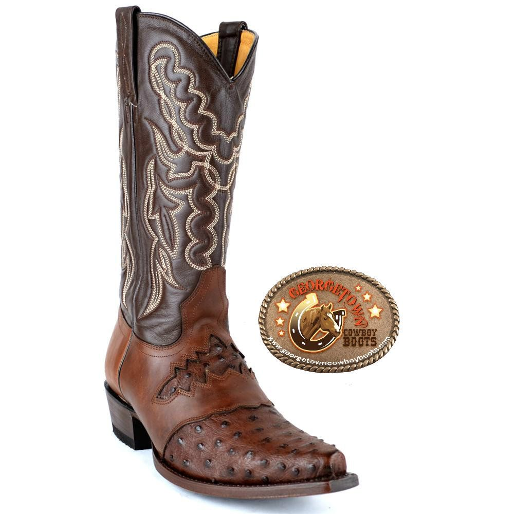 41e88285b25 Mens King Exotic Ostrich Boots Snip-Toe with Saddle Vamp in 2019 ...