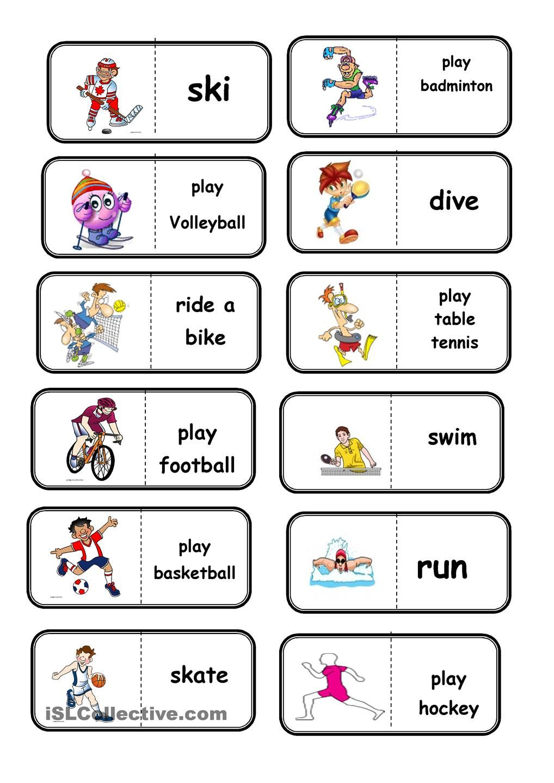 sport domino english vocabulario en ingles aprender ingles vocabulario y imagenes ingles. Black Bedroom Furniture Sets. Home Design Ideas
