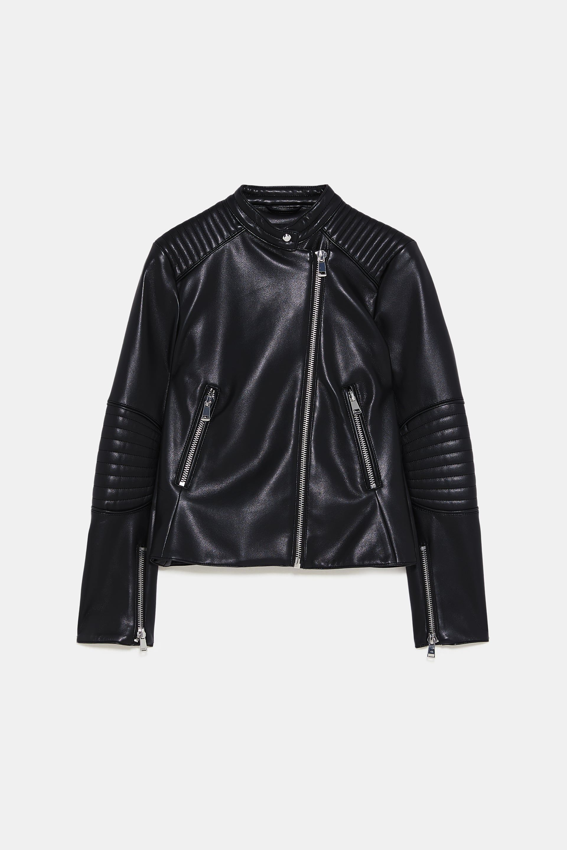 LEATHER LOOK BIKER JACKET 79 Zara Jackets, Jacket
