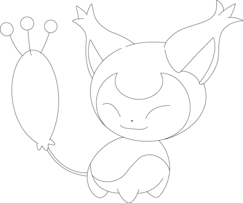 Skitty Coloring Page Pokemon Coloring Pages Pokemon Coloring Sheets Pokemon Coloring