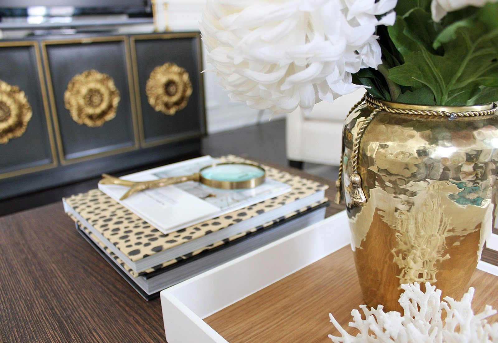 hollywood regency credenza, regency coffee table styling, coffee