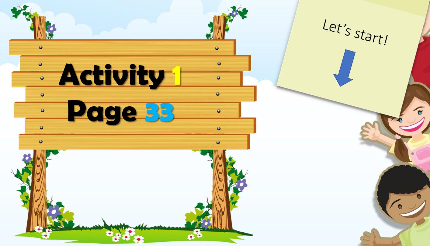 بوربوينت Activity 1 Page 33 للصف الثاني مادة اللغة الانجليزية Activities Outdoor Decor Decor
