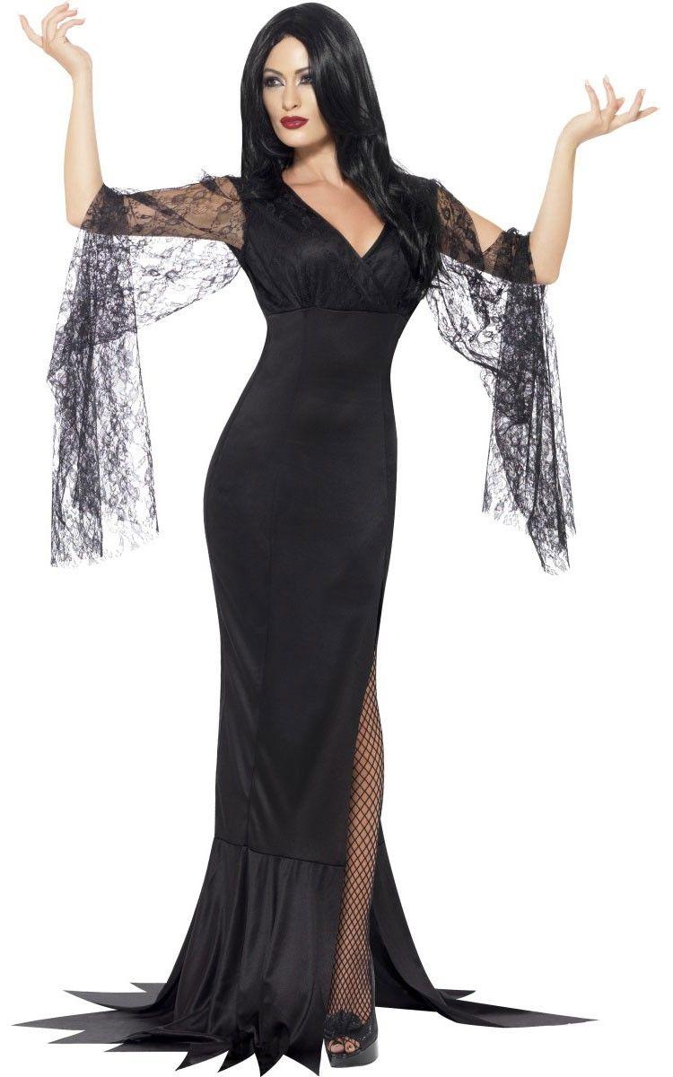 Elegant Witch Ladies Fancy Dress Costume Large