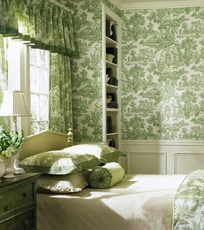 Decorating With Green And White Toile French Toile Interiors