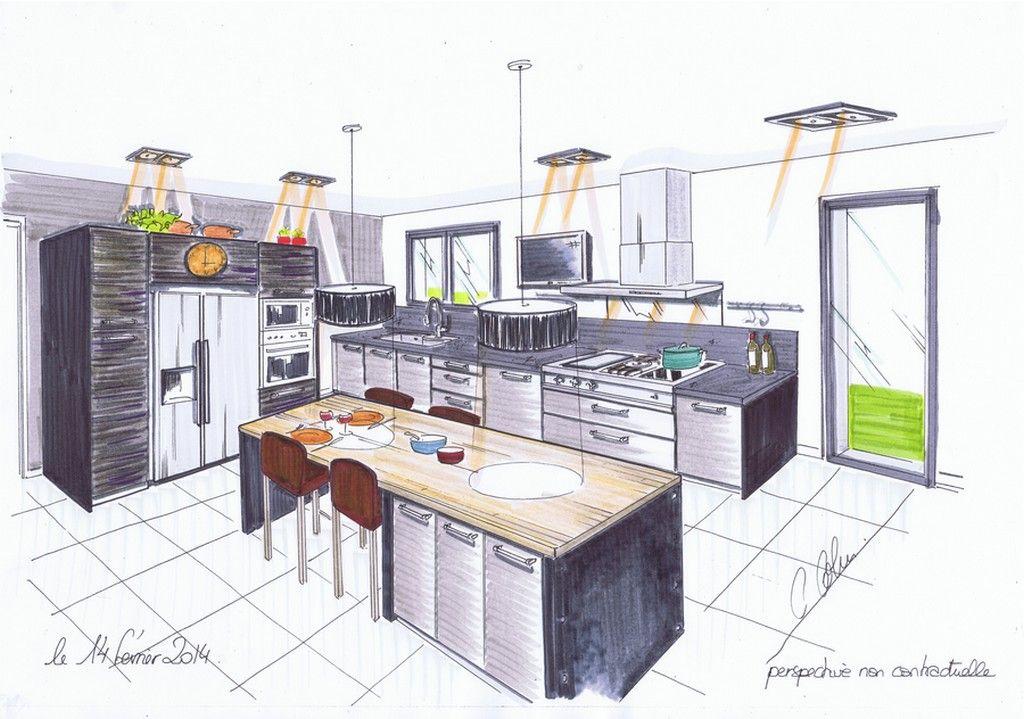 Dessin Cuisine 6 Jpg 1024 719 Plan Cuisine Dessiner Plan Cuisine Amenagement Maison