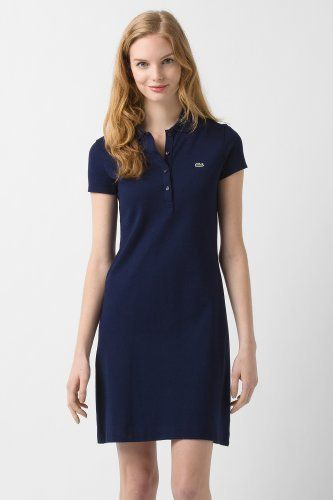 6574cc26f7 Lacoste Short Sleeve Stretch Pique Classic Polo Dress. $145. | Must ...