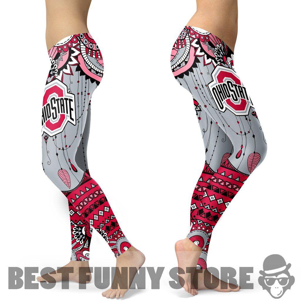 Simple Boho Ohio State Buckeyes Leggings