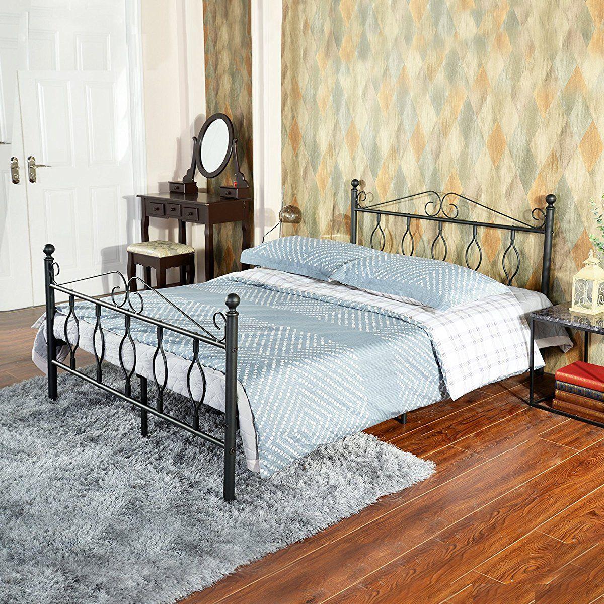 Green Forest Greenforest Full Bed Frame Metal Platform Complete