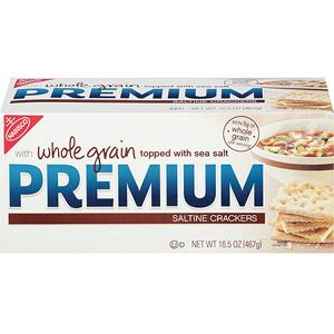 Nabisco Premium Whole Grain Saltine Crackers, 16.5 oz  To suport Paula Deen, Ya'l, I want to protest Nabisco, Sunshine, Keebler, Pepperidgefarms, IT IS A RACEAL SLUR TO HAVE CRACKER PRINTED ON ANY BOX. I AM WHITE AND I HAVE BEEN CALLED A CRACKER BY AFRO AMERICAN PEOPLE ALL MY LIFE. SO TO SEE IT ON BOXES TO ME IS DEMEANING AND THEREFORE IS A RACEAL SLUR. PROTEST THAT IT IS TAKEN OF ANY BOX: WAL-MART YOU ARE FULL OF IT.
