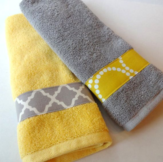 Black Grey And Yellow Bathroom Set Of Yellow And Grey Bath - Yellow bath towels for small bathroom ideas