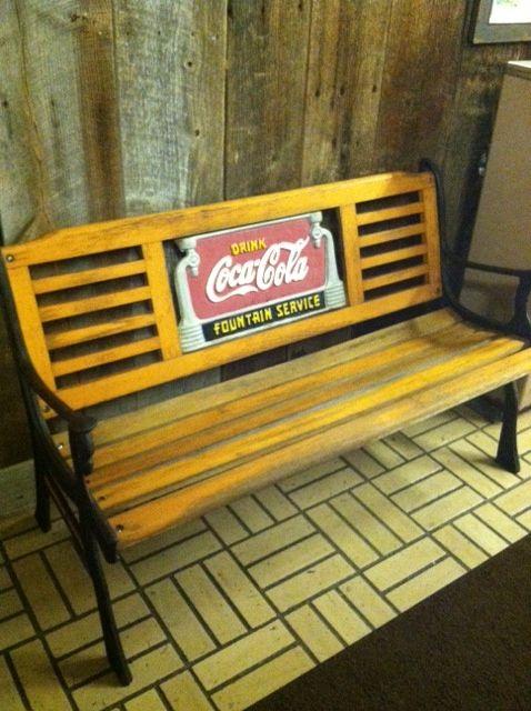 Coca Cola Cast Iron And Wood Park Bench Coca Cola 8 Pinterest Coca Cola And Cola
