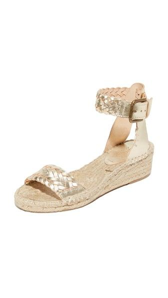 405ae898579 Soludos Woven Leather Demi Wedges