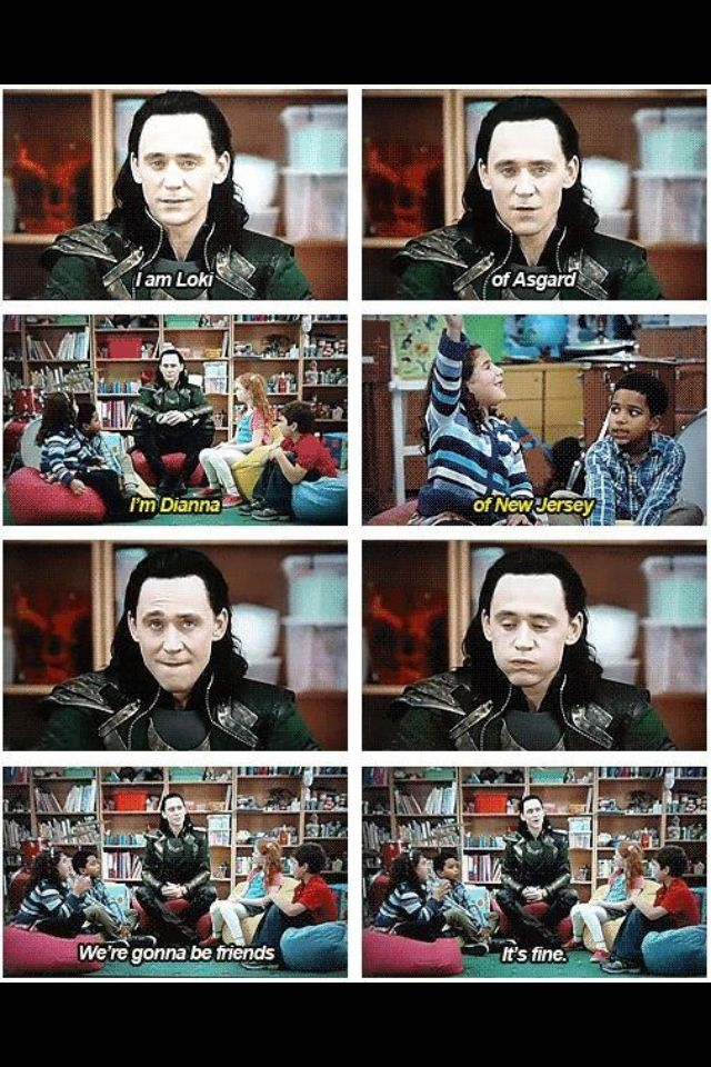 See what happens when you destroy New York, Loki? You get - babysitting duties
