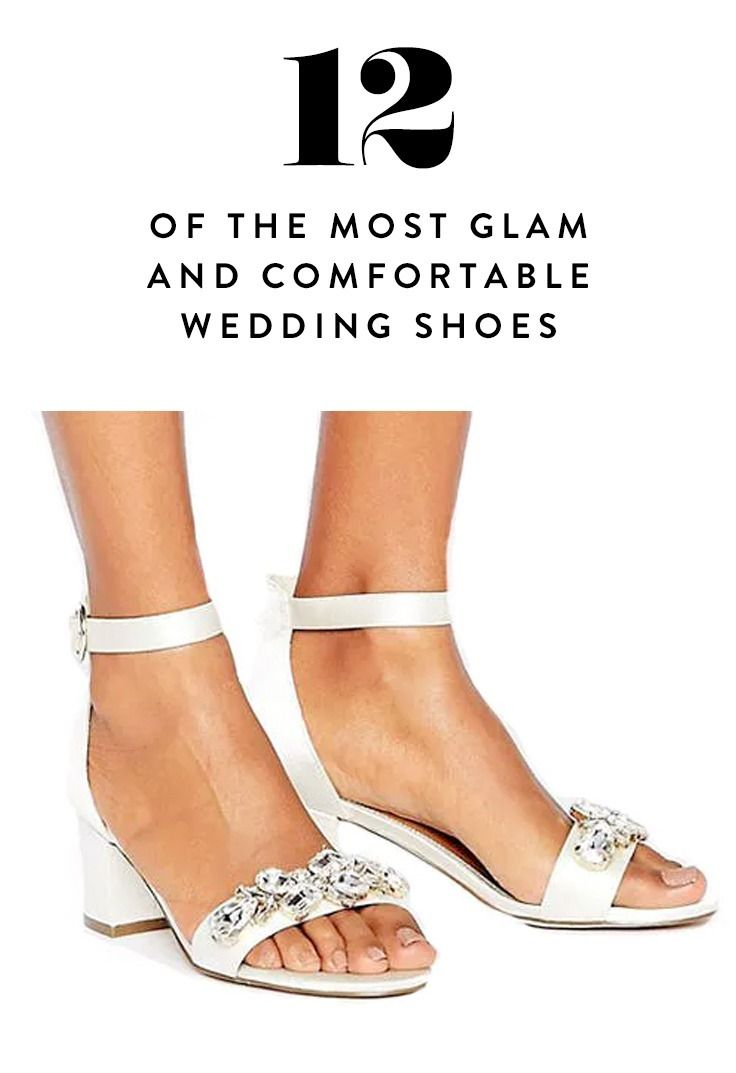 2b6f71403a64 Being comfortable doesn t necessarily mean you have to sacrifice style.  These 12 totally glamorous bridal shoes are made for dancing the night away.