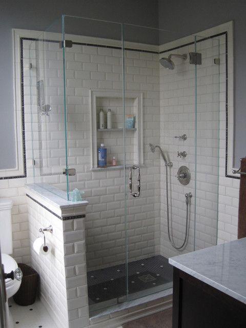 Douche Demi Mur Et Paroi Vitree Bathroom Pinterest