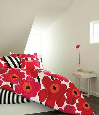 Marimekko Unikko Bedding インテリア 女の子 部屋 ベッド