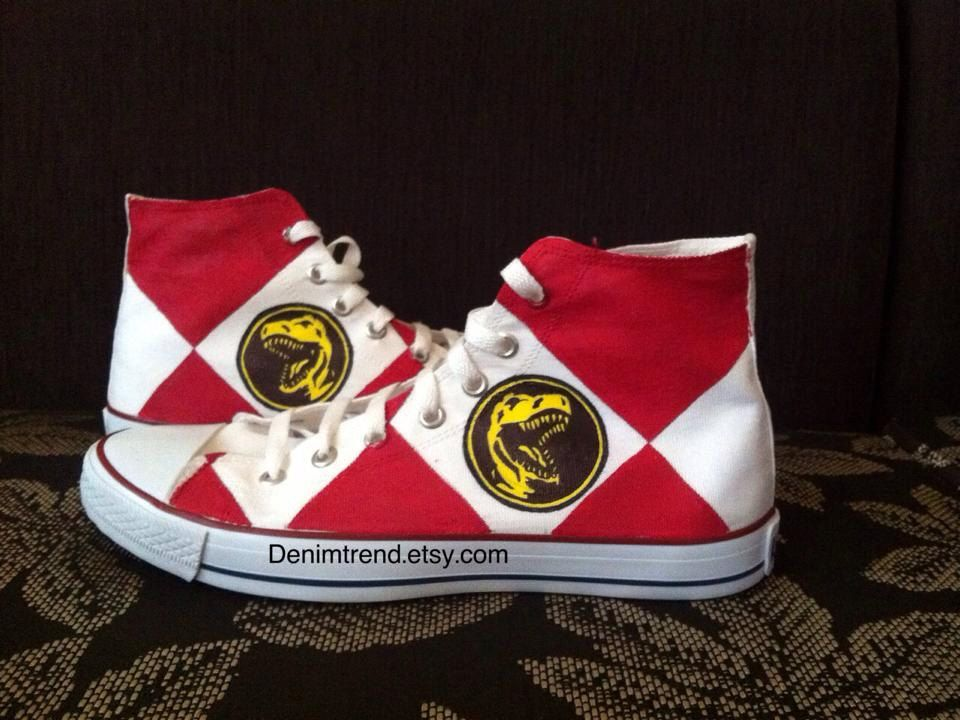 Power Rangers Shoes by denimtrend on Etsy, $65.00 Power  Power