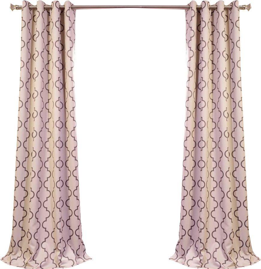 Woodrow Quatrefoil Blackout Grommet Single Curtain Panel